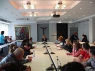 Среща със завършващи магистратура по PR и реклама във Варненски свободен университет