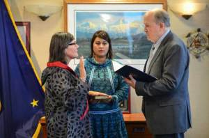 Valerie Nurr'araaluk Davidson was sworn in as Lieutenant Governor on Tuesday. Image-State of Alaska