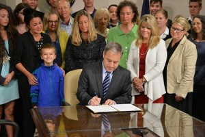 Alaska's Governor Sean Parnell at Thursday's bill signing. Image-State of Alaska