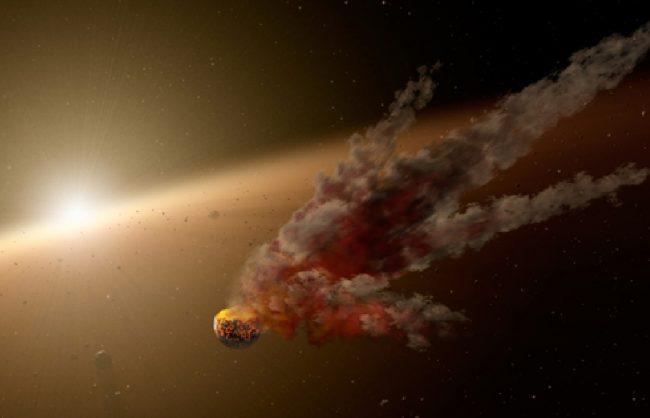 NASA's Spitzer Telescope Witnesses Asteroid Smashup