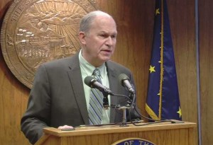 Governor Bill Walker today announced during a House Resources committee hearing he will drop his public interest litigant lawsuit on Point Thomson once he submits legislation on Friday to ensure the state Constitution and state laws are never again violated in negotiations to develop Alaska's natural resources. Image-Office of the Governor
