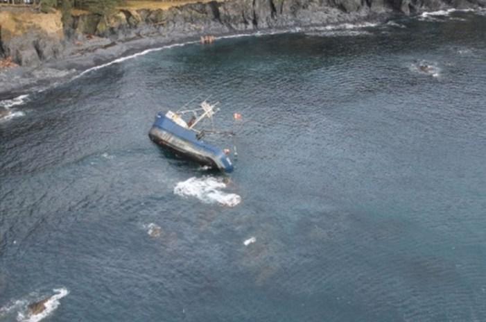 Coast Guard Responds to Diesel Sheen from Grounded Vessel near Kodiak