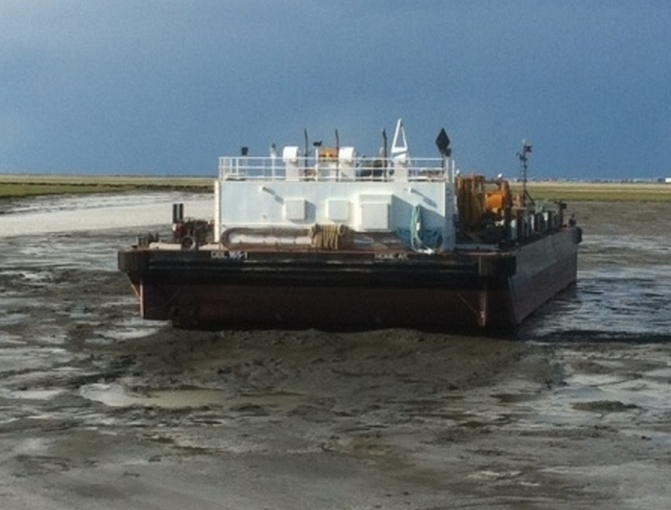 Grounded Fuel Barge Re-Floated and Bound for Bethel, Coast Guard Reports