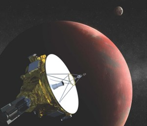 Image NASA/Johns Hopkins University, Applied Physics Laboratory/Southwest Research Institute An artist's rendition of the New Horizons space probe to Pluto.