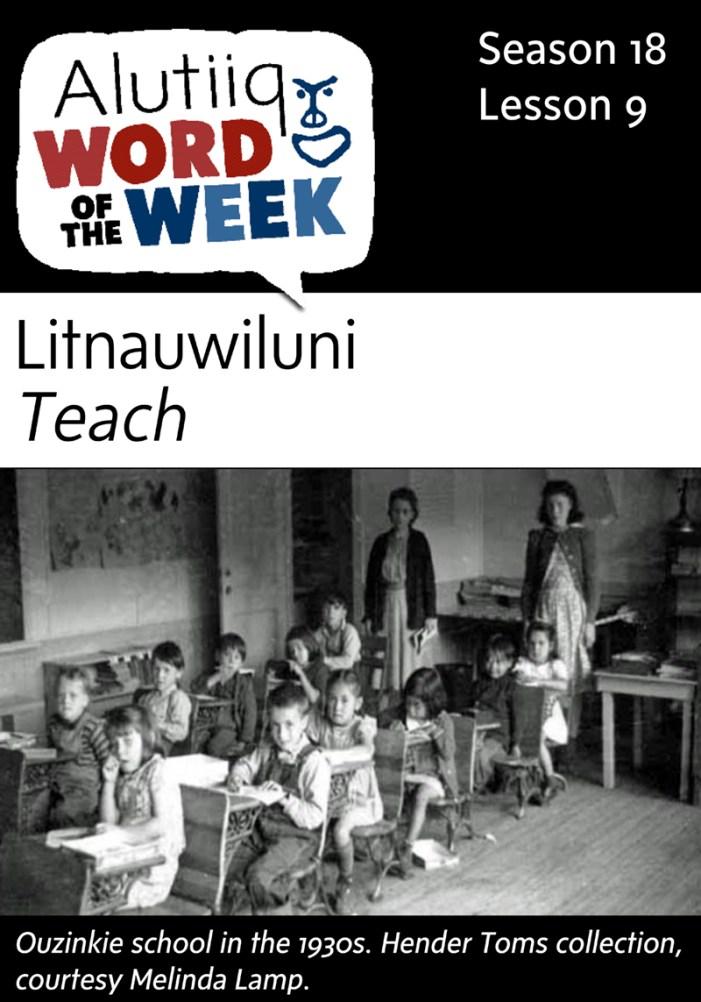 Teach-Alutiiq Word of the Week-August 23
