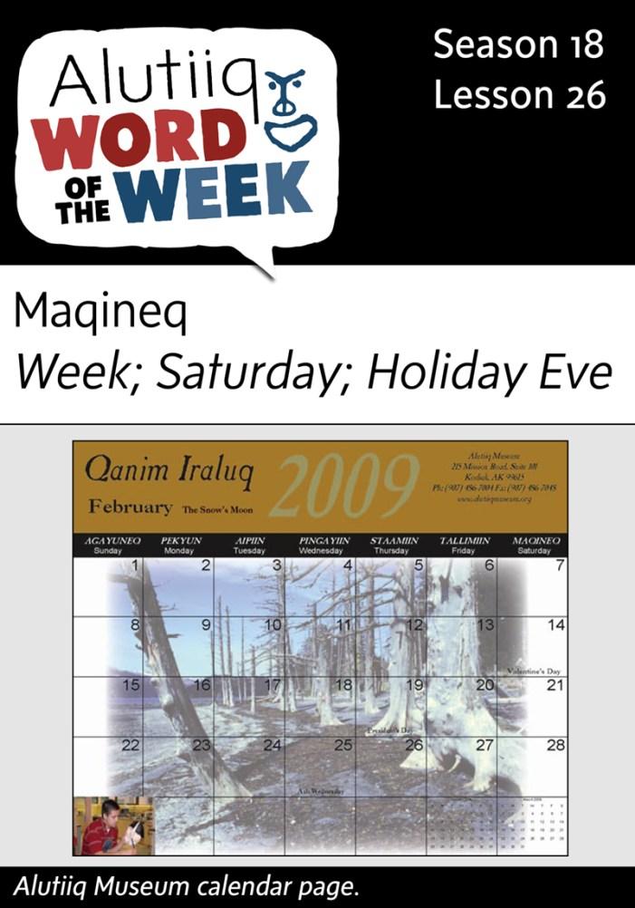 Week-Alutiiq Word of the Week-December 20th