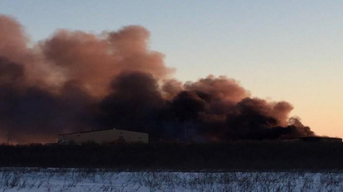 Large Fire Burns throughout Weekend in Emmonak