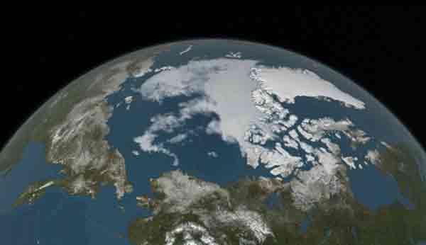 Arctic Sea Ice Annual Minimum Ties Second Lowest on Record