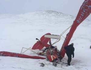 Crash site at the 2,000-foot level of Marvel Dome. Image-AST