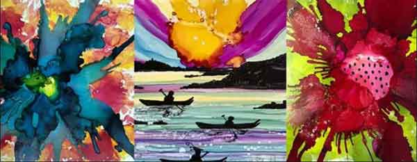 Alcohol Ink Painting Class with June Pardue June 10th