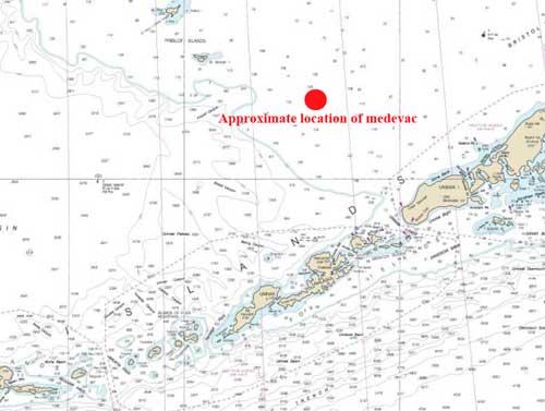 Coast Guard Medevacs Man from Fishing Vessel 152 Miles North of Dutch Harbor