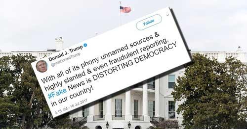 Trump: US Media Are 'Distorting Democracy'