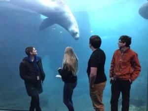 Students at the Sea Life Center in Seward. Image-Alaska Sea Grant