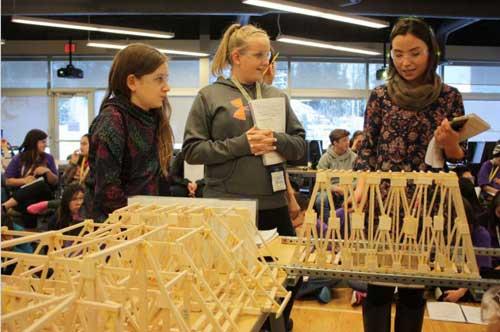 Alaska Middle School Students Construct and Test Bridges at ANSEP