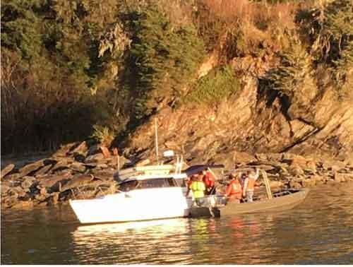 Coast Guard Assists Four on Sinking Vessel in Auke Bay