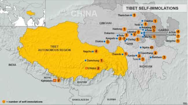 Monitors: 24-Year-old Tibetan Self-Immolates in Anti-China Protest
