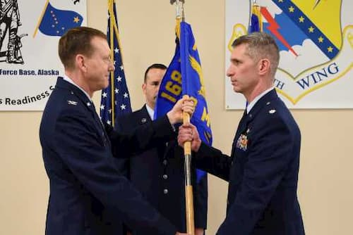 Support Group Airmen Welcome Former Enlisted Coworker as Newest Commander