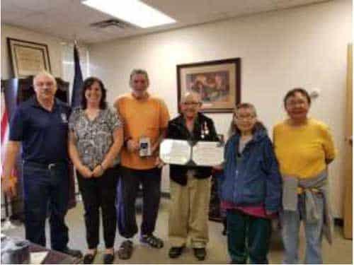 Alaska Department of Military and Veterans Affairs Recognizes Alaska Territorial Guard Member