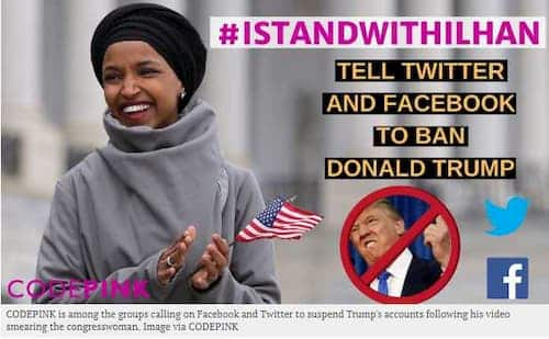 """Don't Give Hate a Platform"": Facebook, Twitter Urged to Suspend Trump Following Attack on Ilhan Omar"