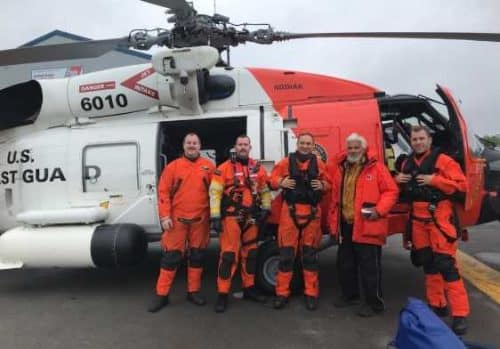 Coast Guard Cordova FOL crew saves 66-year-old man stranded for three days on Montague Island