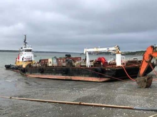 Coast Guard Responds to Barge Aground in Naknek