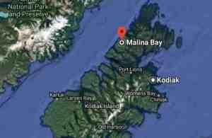 Location of Malina Bay on Afognak Island. Image-Google Maps
