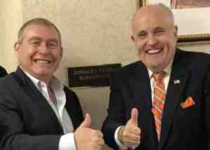 Lev Parnas and Rudolph W. Giuliani. (House Intelligence Committee)
