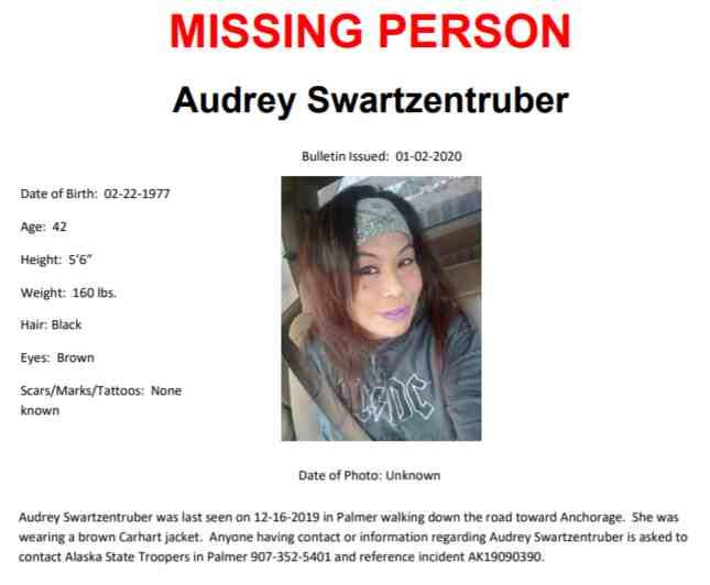 AST Seeking Information on Missing Person Last Seen Mid-December in Palmer