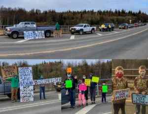 Photo from Dillingham Rally for Health during State & Federal health official visit on May 14th.