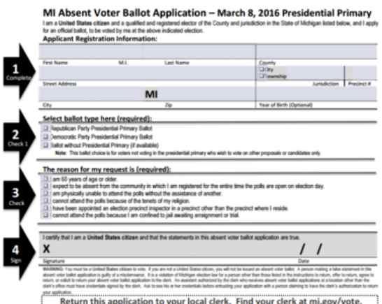 Trump Blasts Michigan Over Absentee Voting Plan