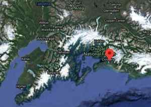 Location of Eyak Lake near Cordova. Image-Google Maps