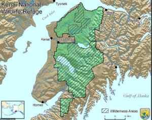 Boundries of Kenai National Wildlife Refuge. Image-FWS.gov