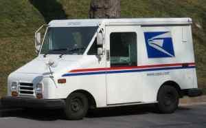 USPS mail truck. Image-Public Domain