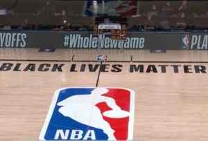 Empty ball court in Buena Vista Florida after Bucks boycott. Image-CNN video screenshot