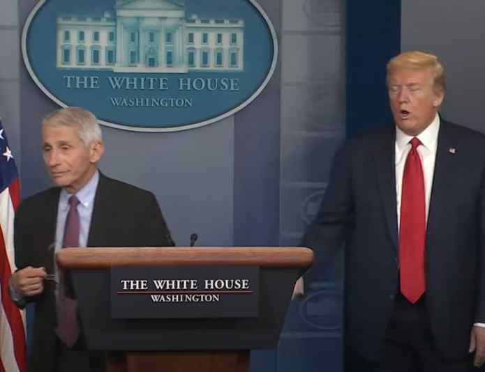 As Pandemic Surges in US, Trump Says 'People Are Tired of Hearing Fauci and All These Idiots'