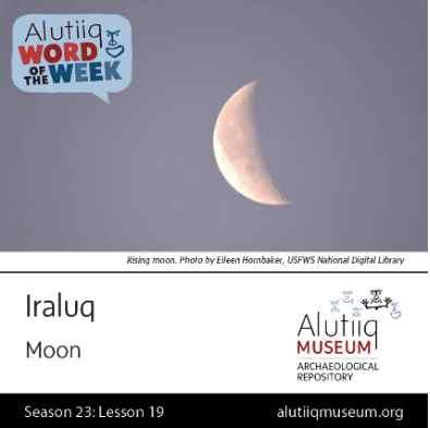 Moon-Alutiiq Word of the Week-November 1st