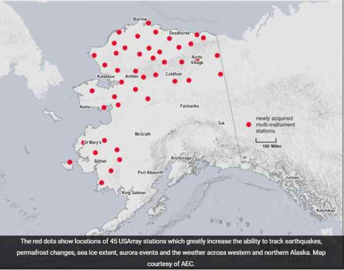Sensors will sustain Alaska earthquake and weather data
