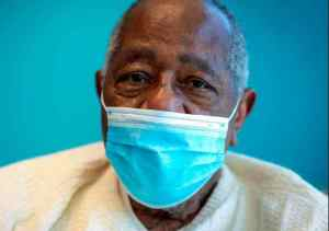 FILE - Baseball Hall of Famer Hank Aaron sits for a portrait on Jan. 5, 2021,after receiving his COVID-19 vaccination at the Morehouse School of Medicine in Atlanta. He died at the age of 86.