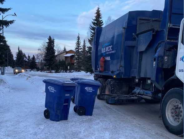 Blue Arctic Waste Driver Crushed by Sliding Truck