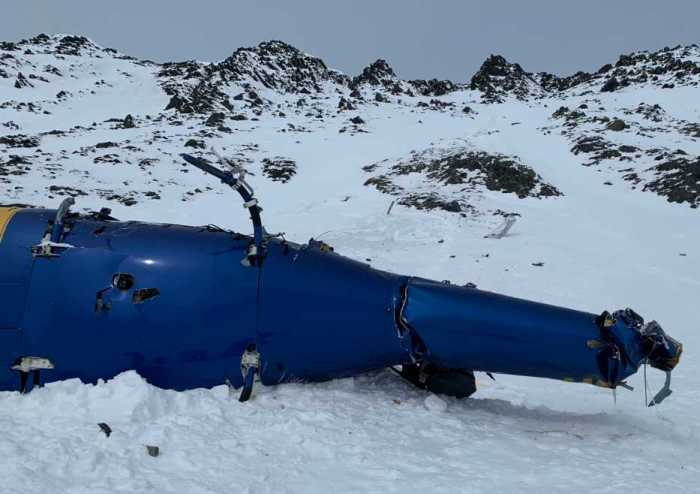 Five Deceased and One Survivor in Late Saturday Knik Glacier Helicopter Crash