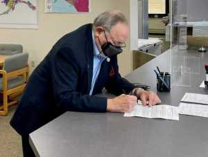 Representative Don Young filing for 2022 re-election. Image-Office of Don Young