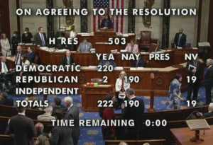 Results of January 6th committee vote. Image-Twitter