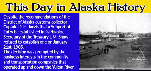 Image-1905 photo of Fairbanks and the Chena River. UAF archives