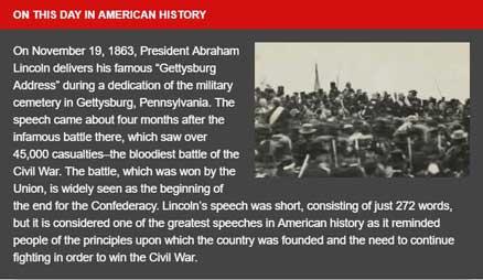 November 19th, 1863