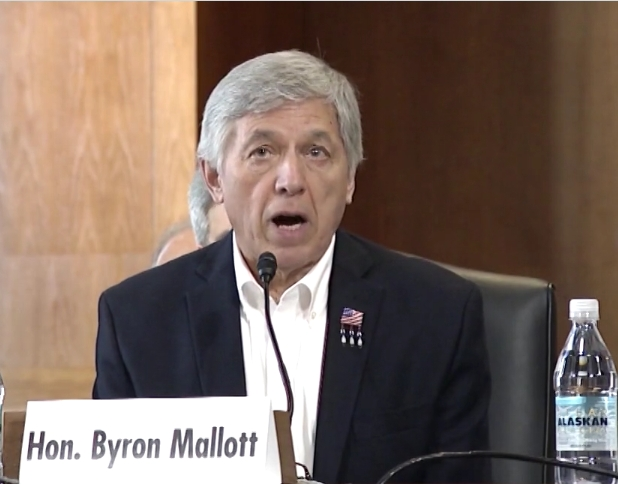 Lt. Governor Mallott Testifies in Front of U.S. Senate Committee on Energy in Support of King Cove