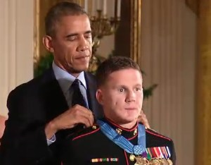 President Obama bestowed the Medal of Honor on Cpl William Carpenter during a ceremony at the White House Thursday afternoon.