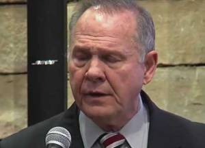 Alabama Senatorial candidate,Roy Moore. screen grab