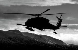 An Alaska National Guard HH-60 Jayhawk helicopter on simulated search and rescue. Image- Tech. Sgt. Sean Mitchell/U.S. Air Guard