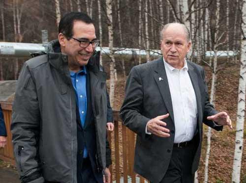 Governor Walker hosts US Treasury Secretary Mnuchin in Fairbanks for gasline discussions