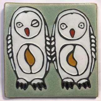 """6"""" Snowy Owls Tile"""